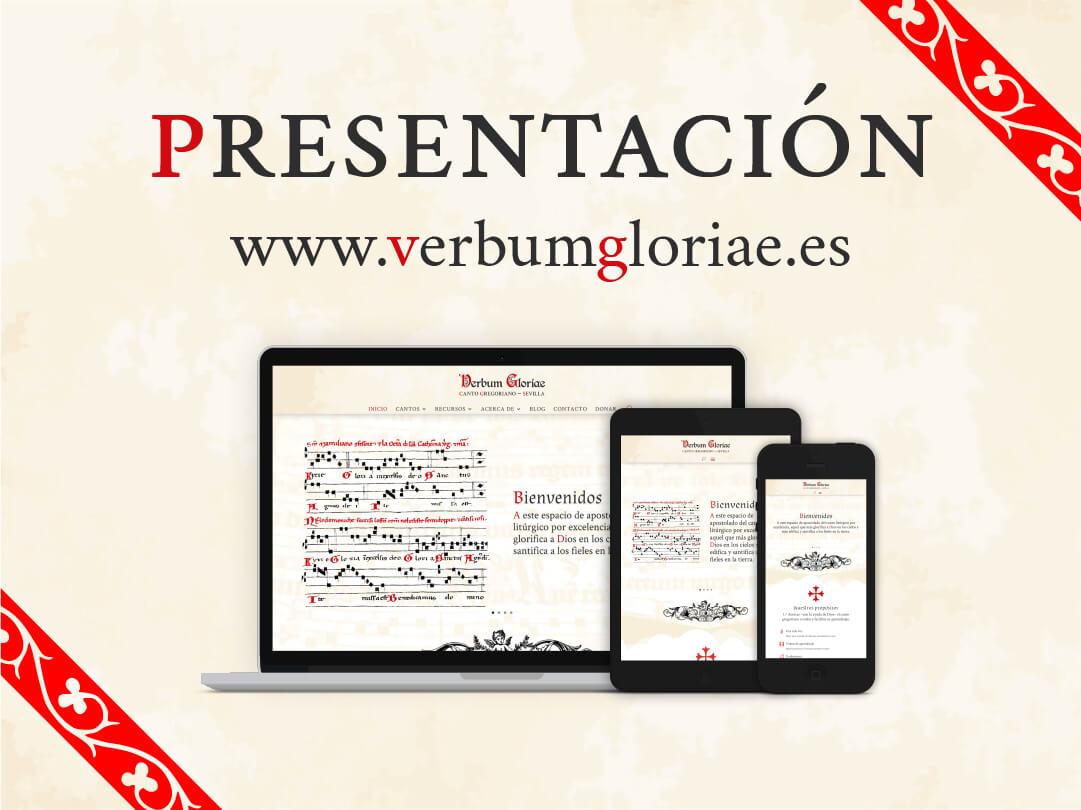 Cartel de la presentación de la página web www.verbumgloriae.es