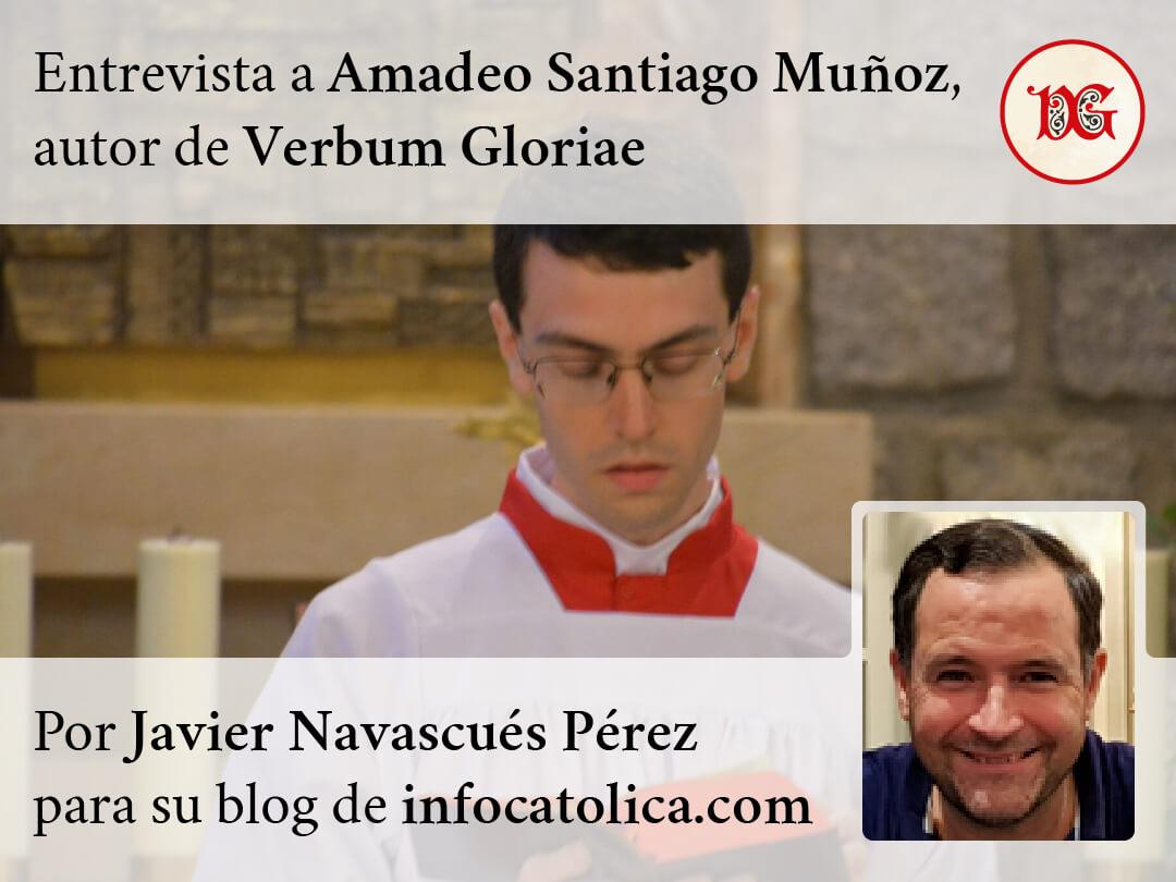 Cartel de la entrevista «Verbum Gloriae, una plataforma para la difusión de la belleza del canto gregoriano»